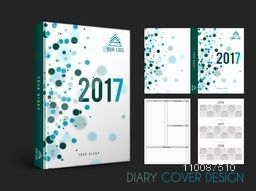 Diary Cover, Personal Organizer or Notebook template layout for the year 2017.