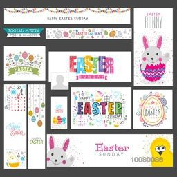 Creative Social Media post and header set for Easter Sunday.