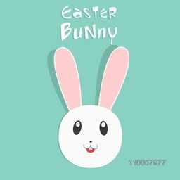 Cute smiling bunny face for Happy Easter celebration.