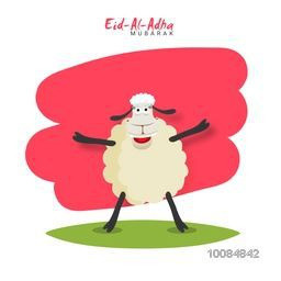 Illustration of a funny Sheep for Muslim Community, Festival of Sacrifice Celebration.