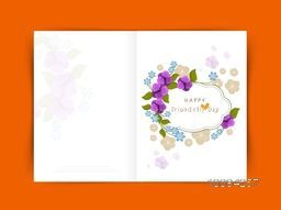 Creative flowers decorated Greeting Card for Happy Friendship Day Celebration.