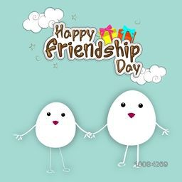 Happy Friendship Day Concept with creative Eggs, Greeting card design, Vector illustration.