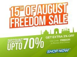 15th of August, Freedom Sale, Poster, Banner, Flyer, Discount upto 70%, Creative Background for Happy Indian Independence Day celebration.