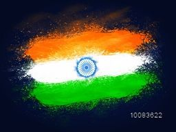 Creative Indian Flag design made by tricolour splash for Happy Independence Day and Republic Day celebration.