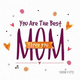 Elegant greeting card design with stylish text Mom for Happy Mother's Day celebration.