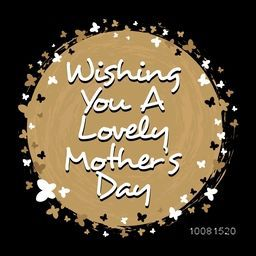 Mother's Day typographical background with wishes, Can be used as greeting card or invitation card design.