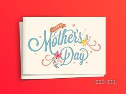 Elegant glossy greeting card design with envelope for Happy Mother's Day celebration.