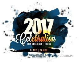 Creative abstract background for New Year 2017 Party celebration, Can be used as poster, banner, flyer or invitation design.