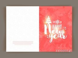 Elegant greeting card design for Happy New Year celebration.
