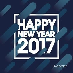 White text Happy New Year 2017 on abstract background, Can be used as poster, banner or flyer design.