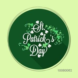 Beautiful greeting card design with Shamrock leaves for Happy St. Patrick's Day celebration.