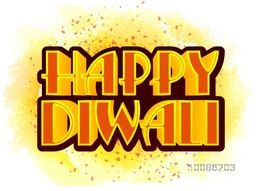 3D Text Happy Diwali, Vector beautiful Typographical Background, Creative Greeting Card or Poster, Banner, Flyer for Indian Festival of Lights Celebration.
