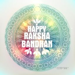 Beautiful floral design decorated shiny frame on grey background for Indian festival, Happy Raksha Bandhan celebration.
