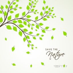 Beautiful green leaves, save the nature concept.