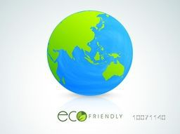 Shiny globe for Eco Friendly concept, can be used as poster, banner or flyer design.