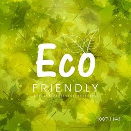 Stylish creative pattern with green leaves for Eco Friendly, can be used as poster, banner or flyer design.