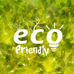 Stylish pattern with green leaves for Eco Friendly concept.