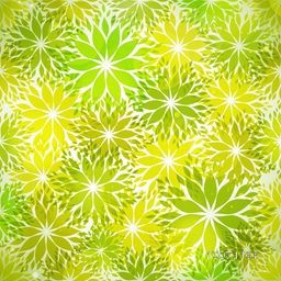 Creative seamless pattern with shiny leaves for Nature.
