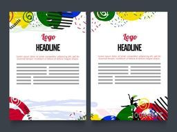 Creative Two Page Brochure, Template or Flyer presentation with colorful abstract design.