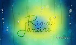 Creative Text Rio de Janeiro on Brazilian Flag colors background, Can be used as Poster, Banner or Flyer design.