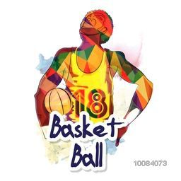 Creative illustration of Basketball Player made by abstract design for Sports concept.