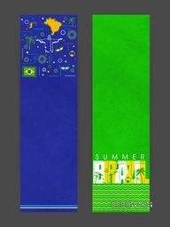 Creative Website Banner set with Brazilian native symbols and space for your text.