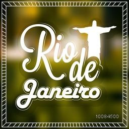 Stylish Text Rio de Janeiro on shiny background, Can be used as Poster, Banner or Flyer design.