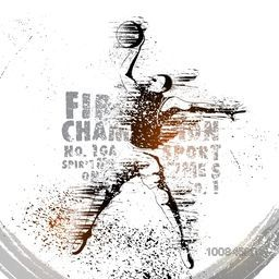 Creative abstract Sports background with illustration of a Basketball Player in playing action, Can be used as Poster, Banner or Flyer design.