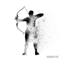 Creative abstract illustration of an Archer aiming target for Sports concept.