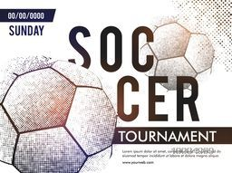 Soccer Tournament Poster, Banner or Flyer design with match details, Creative vector illustration for Sports concept.