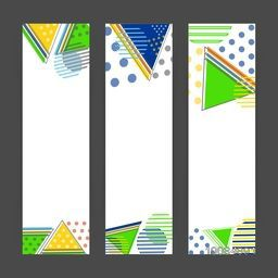 Creative website banner set, Abstract background with geometric shapes and space for your text, Summer Games concept, Vector illustration for web, print, cover design and advertising etc.
