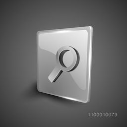Glossy 3D web 2.0 search symbol icon set. EPS 10.