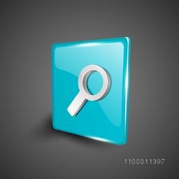 Glossy 3D web 2.0 search symbol icon set. EPS 10