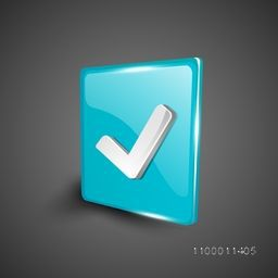 Glossy 3D web 2.0 check mark validation symbol icon set. EPS 10.