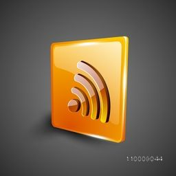 Glossy 3D web 2.0 rss feed symbol icon set. EPS 10