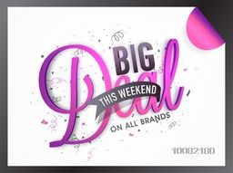 Big Deal Sale Banner, Sale Poster, Sale Flyer, Sale Vector. Sale Background. Big Sale, Super Sale, Special Offer, Weekend Sale.Vector illustration.