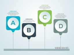 Creative shiny infographic elements for Business purpose.