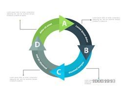 Creative infographic circle on white background for Business.