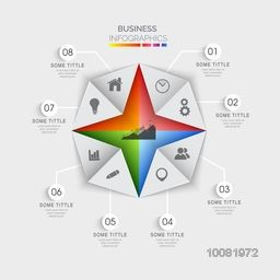 Creative origami infographic elements with various symbols for Business reports and presentation.