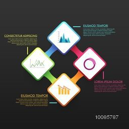 Creative infographic template layout with statistical graphs for Business reports and presentation.