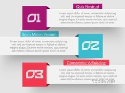 Infographic banners with numbers, Can be used for workflow layout, diagram, business reports and presentation.