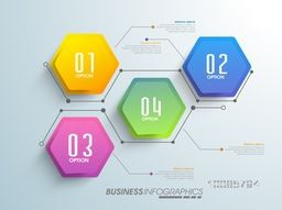 Glossy infographic elements with numbers for Business concept.