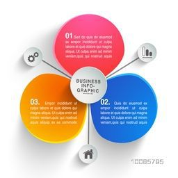 Colorful infographic elements on white background for Business concept.