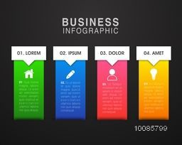 Colorful business elements with web symbols, Can be used for workflow layout, diagram, web design, business reports and presentation.