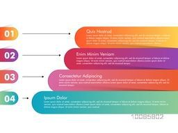 Colorful infographic elements with numbers, Can be used as workflow layout, diagram, business reports and presentation.