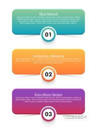 Colorful infographic elements on white background for Business reports and presentation.