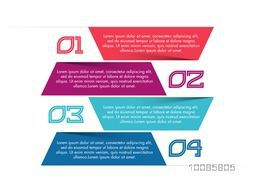 Colorful infographic banners with numbers on white background, Can be used for workflow layout, diagram, web design, business reports and presentation.