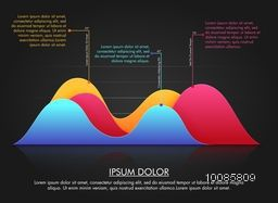 Colorful statistical graph infographic for Business reports and presentation.