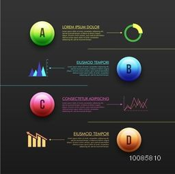 Creative infographic template layout for business reports and presentation.