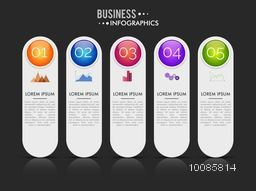 Creative infographic elements layout for Business concept, Can be used for workflow layout, number options and diagram.